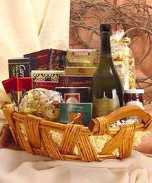 Celebrate! Choose your favorite champagne and share a basket of edible delights.