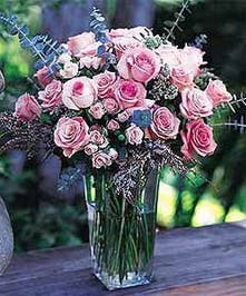 When only the very best will do, consider our stunning, upgraded vase of dozens of roses and spray roses!