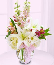 Celebrate a new baby girl with this adorable arrangement!