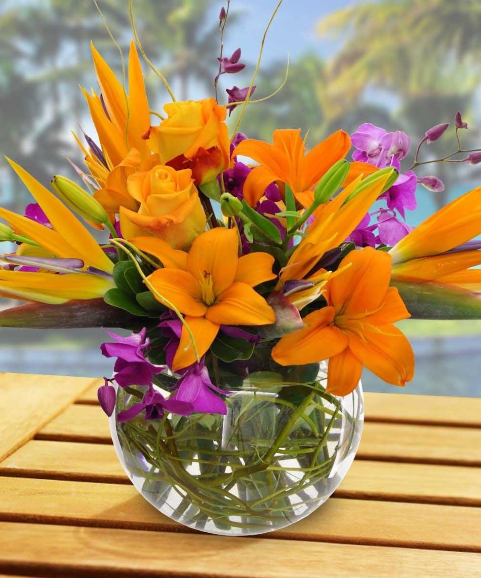 Waikiki Tropical Bouquet at Beneva Flowers