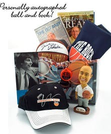 Autographed basketball & bobble head included!