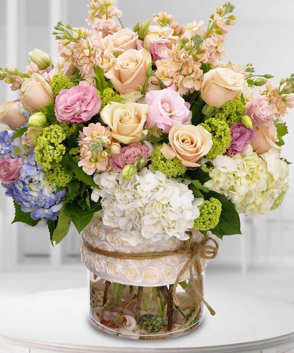 Beautiful Garden Pastel Roses Hydrangea Beneva Flowers