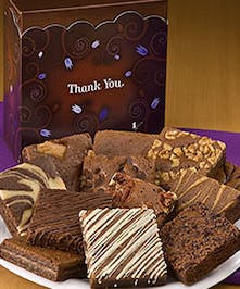 "Say ""Thank You"" with chocolate brownies!"