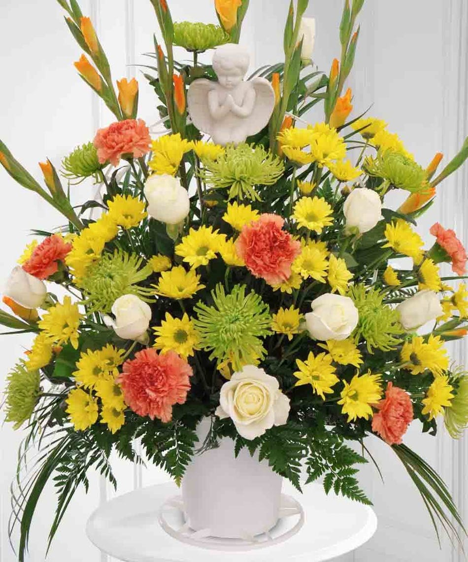 Angel basket sympathy beneva flowers sarasota florida angel basket sympathy beneva flowers sarasota florida florist 34238 izmirmasajfo