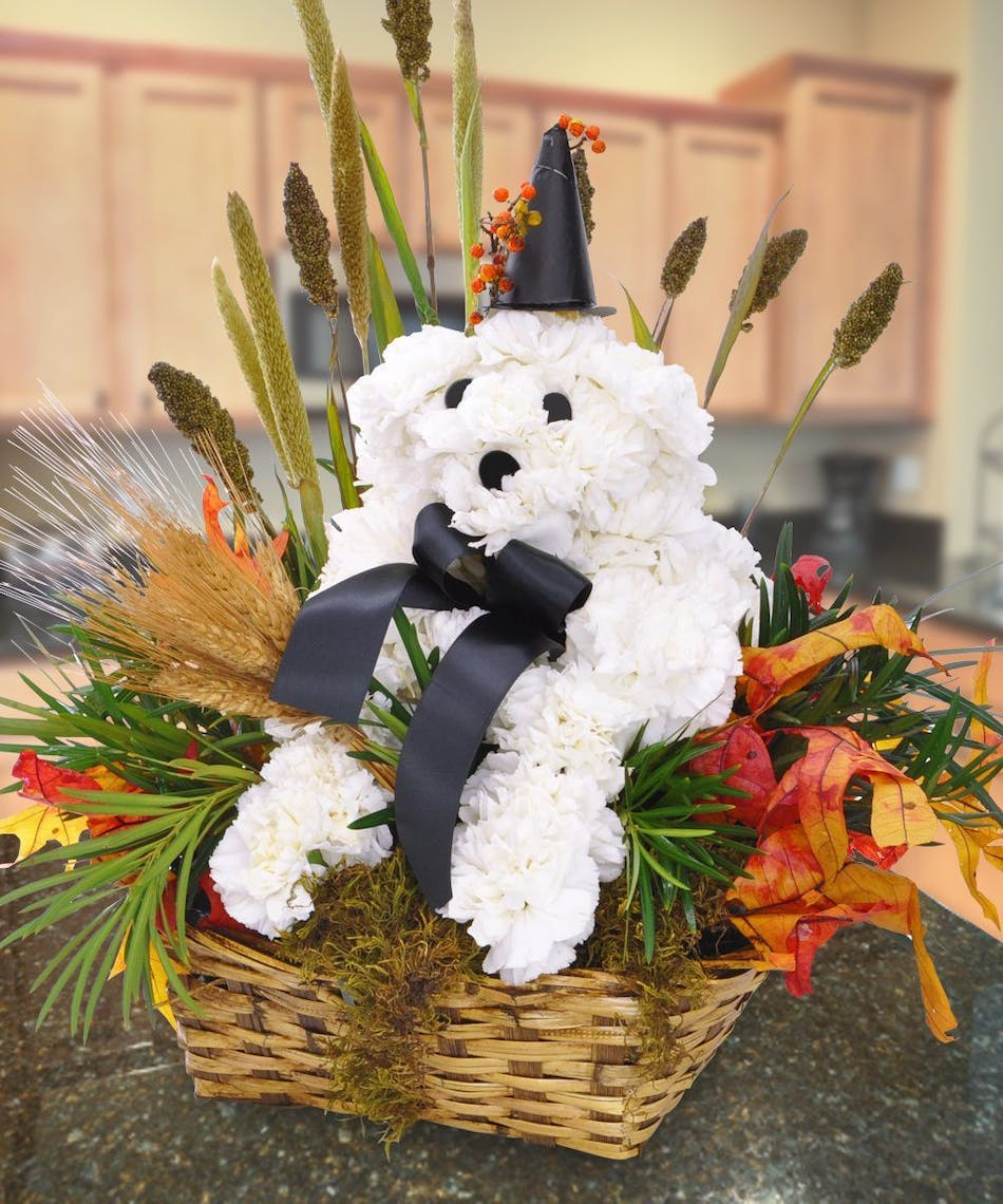 Fall Pooch Floral Puppy Dog Bouquet of Flowers from Beneva.com