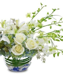 Start 2014 out right with this bowl of exquisite white flowers.