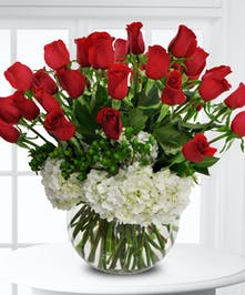 Premium long-stemmed roses offer a message of passionate love!