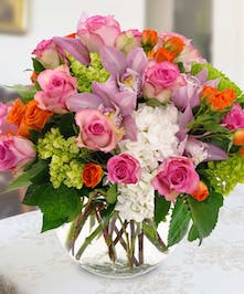 Let the flowers do the talking when you send this feminine bouquet