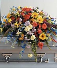 Bright, vibrant flowers to honor a vibrant spirit