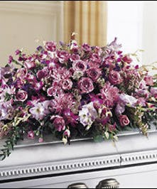 A grand design of all purple & lavender blooms