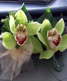 Make their day extra special with a lovely green boutonniere or corsage!