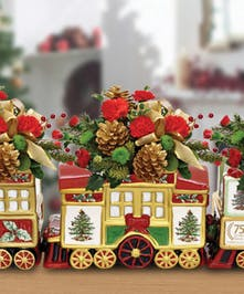 Complete set our our limited edition Spode collectible trains.