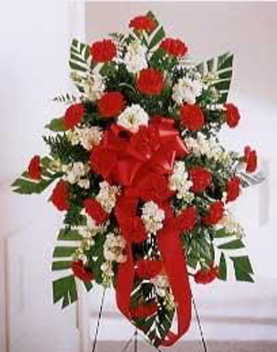 Standing Traditional Spray Sympathy Funeral Flowers Beneva