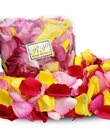 Scattered rose petals add romance to anything!