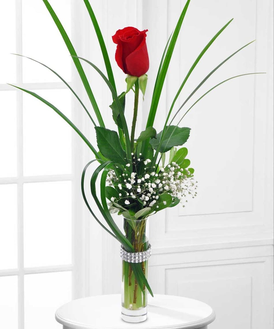 Beneva bling bud vase floral arrangements beneva flowers this bling rose is perfect for any occasion reviewsmspy