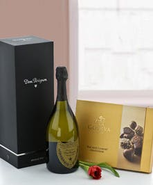 Featuring the exquisite Dom Perignon & Godiva chocolates