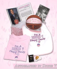 Need a unique gift for your Basketball fans and their little ones? The Dick Vitale Diaper Dandy gift set has it all!