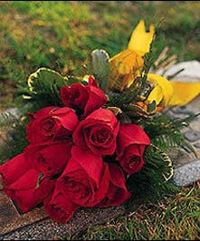 Express your loving gratitude with traditional red roses