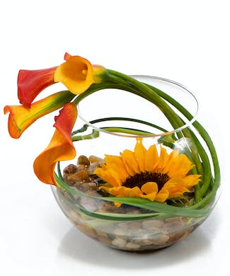Striking Sunflower Bowl