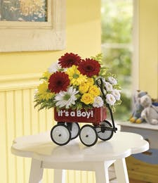 Baby Boy's First Wagon Bouquet