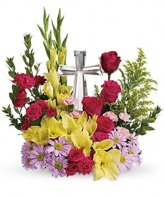 Beneva's Crystal Cross Bouquet