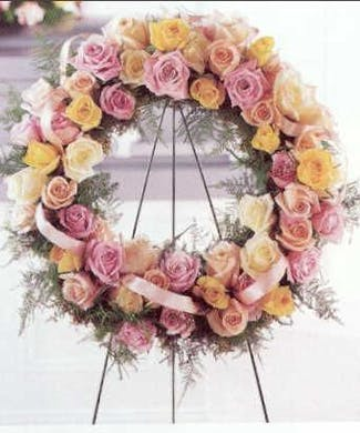 Standing Rose Funeral Wreath