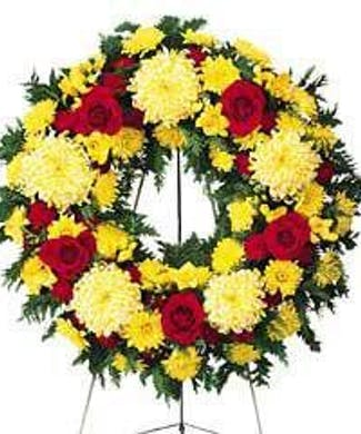 Standing Funeral Wreath (Traditional)
