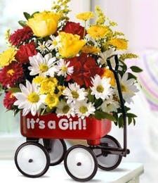 A Baby Girl's First Wagon Bouquet