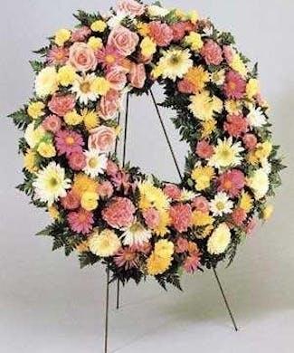 Standing Funeral Wreath